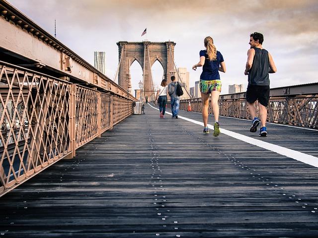 běh na mostě