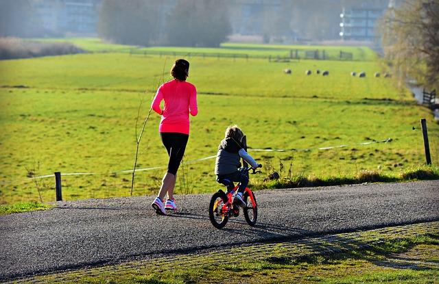 sportování s dcerou