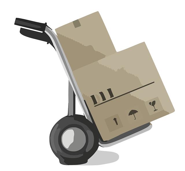 stěhovací rudl s krabicí